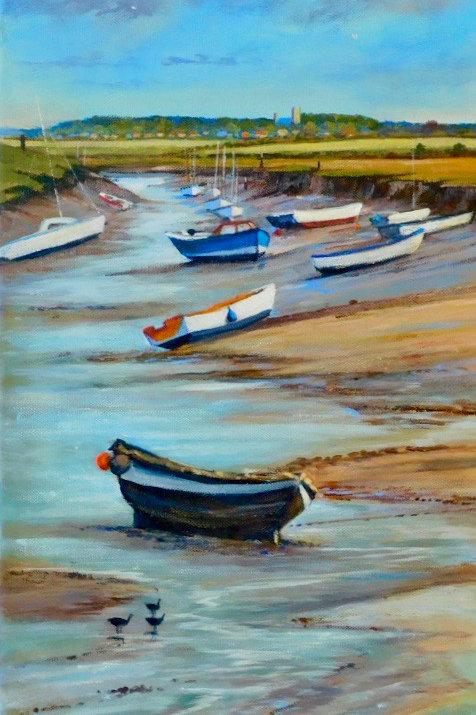 Low tide at Morston by Jill Ilett