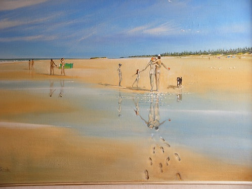 ' A Naturist family on Holkham Beach' by Mike Smith