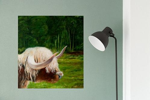 'Highland Cow at Lynford Arboretum' by Lynne Rackstraw