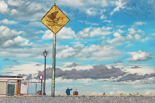 'Caution : Windsurfers' by Krys Leach
