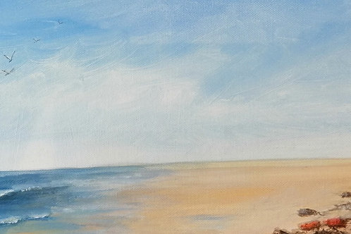 'Hunstanton Cliffs' by Moira Johnson