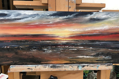 """""""Old Hunstanton mesmerising sunset' by Michelle Carter"""