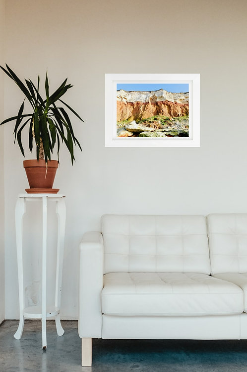 Hunstanton Cliffs 1  - A4 mounted and framed print