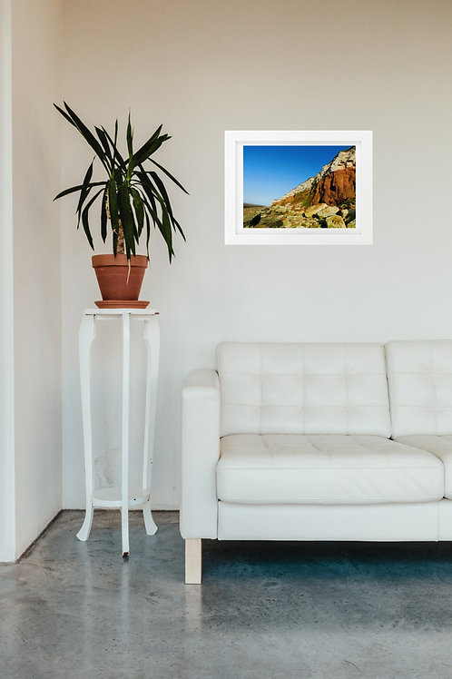 Hunstanton Cliffs 2 - A4 mounted and framed print