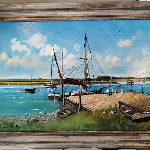 'Juno at Burnham Overy Staithe' by Mike Smith