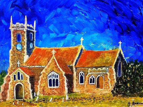Sandringham Church, Van Gogh style by Helena Anderson