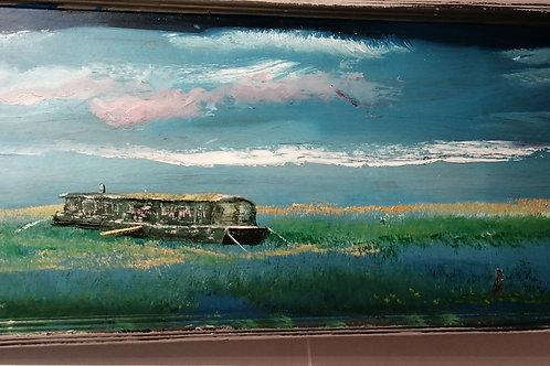 'Harrys houseboat. A Burnham Deepdale icon' by Tom thebrus