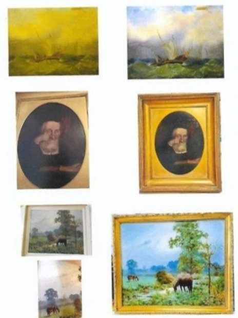 Restoration and renovation of old oil paintings