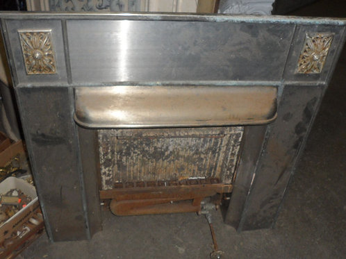 Fireplace Gas Insert (Chrome Front)