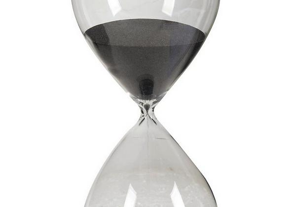 "15""  Hourglass, Black Sand"