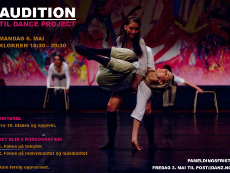 Ny audition for Dance Project - 6.mai!