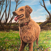 Sister's Dog Painting
