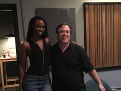With Amanda Pollard at Studio C.
