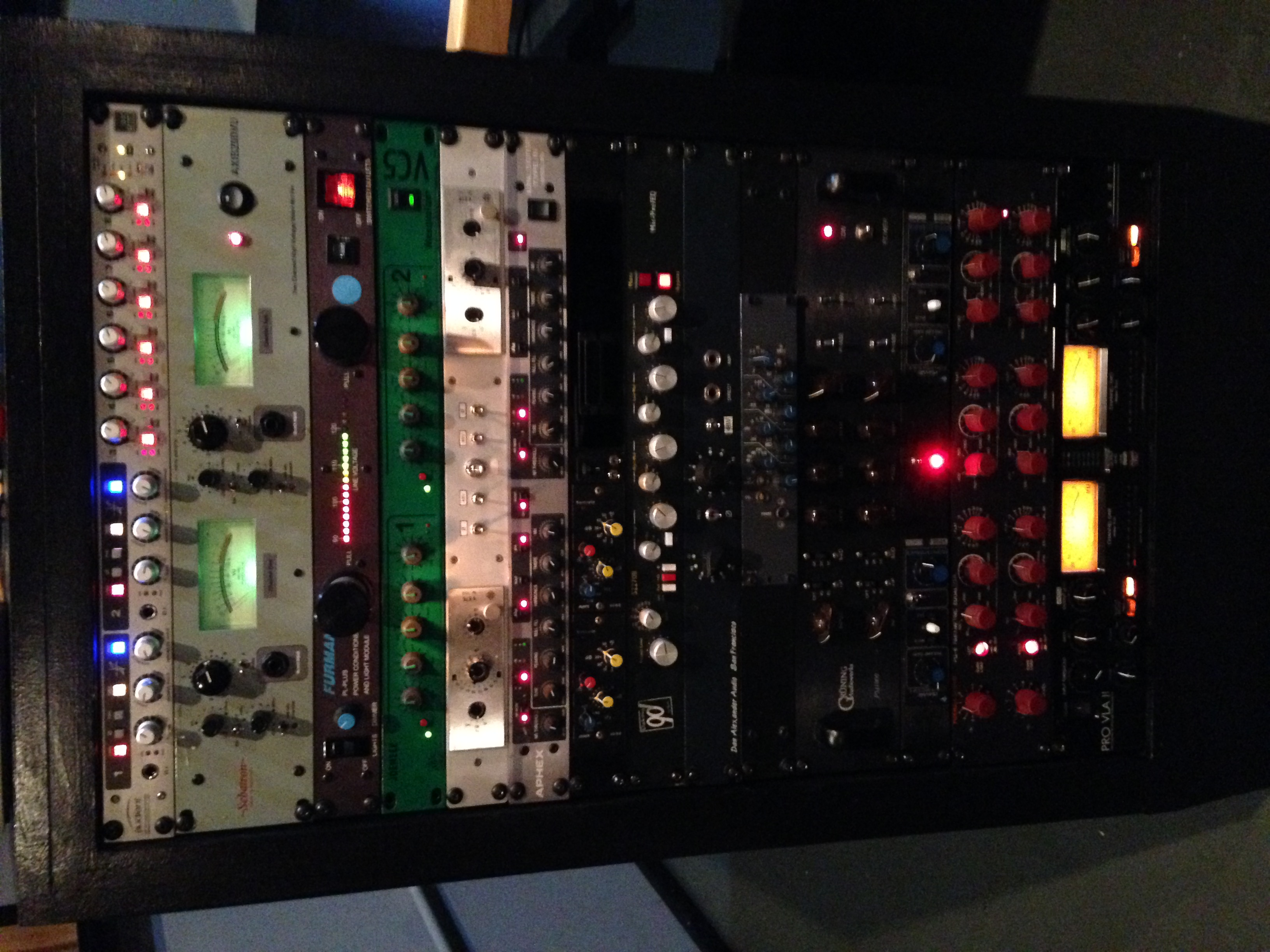 Rack 1 at Studio C.