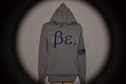 Women's Gray/ Bonnie Purple Be. Hoodie