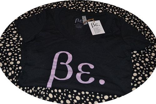 Women's Black/ Pink Be. Basic Tee