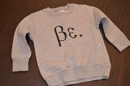 Boys Toddler Grey/Black Be. Sweat Shirt