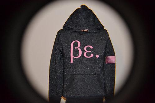 Women's Black/ Pink Sprinkles Be. Hoodie
