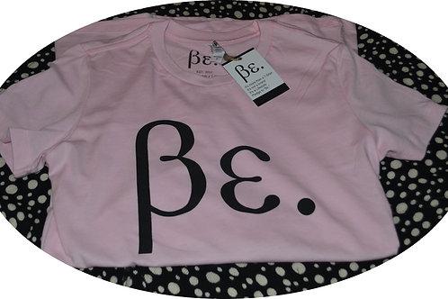 Women's Powder Pink/ Black Be. Basic Tee