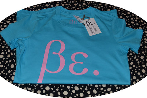 Women's Lollipop Blue/ Pink Be. Basic Tee