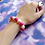 Thumbnail: Pink and White Bead Stretch Bracelet