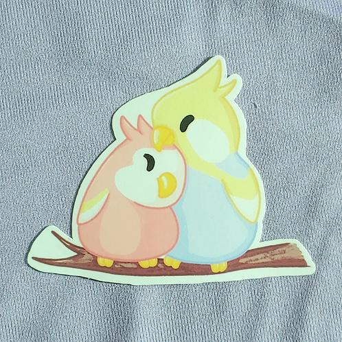 Pastel Love Birbs 3 inch Sticker