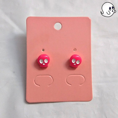 Pink Skull Stud Earring