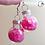 Thumbnail: Pink Heart Glitter Ornament Dangle Earring