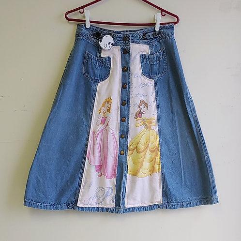 Disney Princesses Reworked Skirt - Medium (31 inch waist)