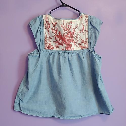 Vintage Romantic Denim Shirt - Women's Large