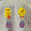 Thumbnail: Chick and Zig Zag Egg Dangle Earring