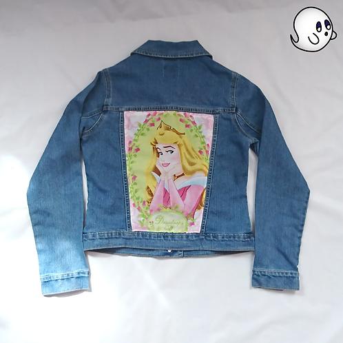 Sleeping Beauty Reworked Denim Jacket - Child Xlarge (14)