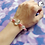 Thumbnail: Pink Crystal Bead Stretch Bracelet