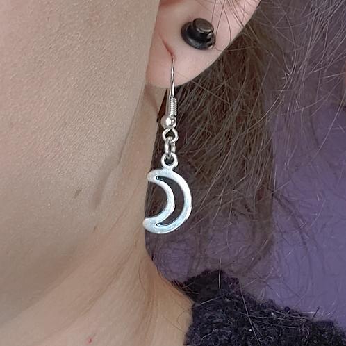Crescent Moon Dangle Earring