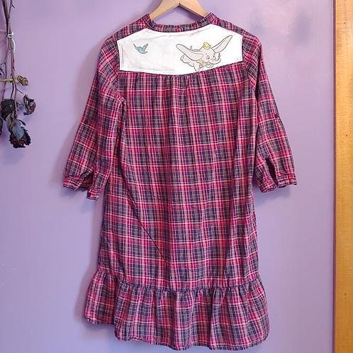 Dumbo Reworked Flannel Dress - Women's Medium (8)