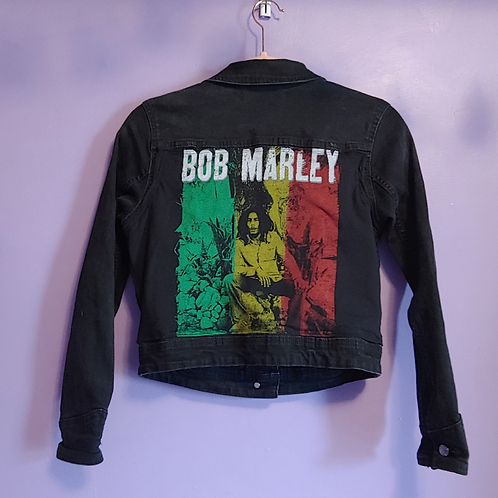 Bob Marley Reworked Denim Jacket - Women's Small