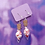 Thumbnail: Red, White and Pink Hearts Love Potion Dangle Earring