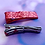 Thumbnail: Red Heart Striped Glitter Alligator Clip Set