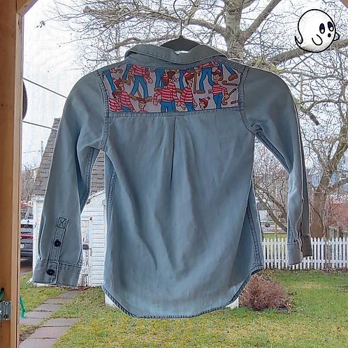 Where's Waldo Reworked Denim Shirt - Child Small (6/7)