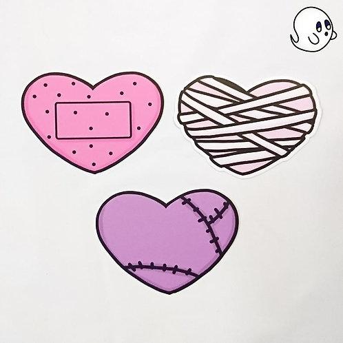 Spooky Hearts 3 inch Sticker