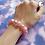 Thumbnail: Pink Shiny Bead Stretch Bracelet