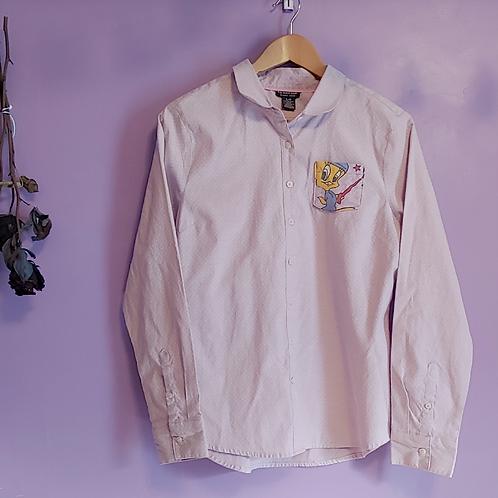 Tweety Bird Pocket Reworked Shirt - Women's Large