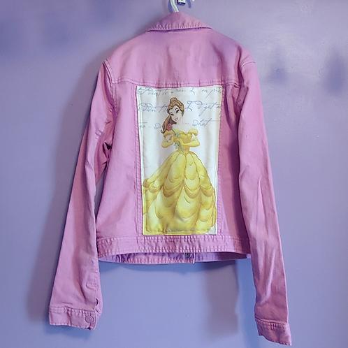 Belle Beauty and the Beast Denim Jacket - Girls XXLarge