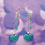 Thumbnail: Blue Glitter Heart Dangle Earring