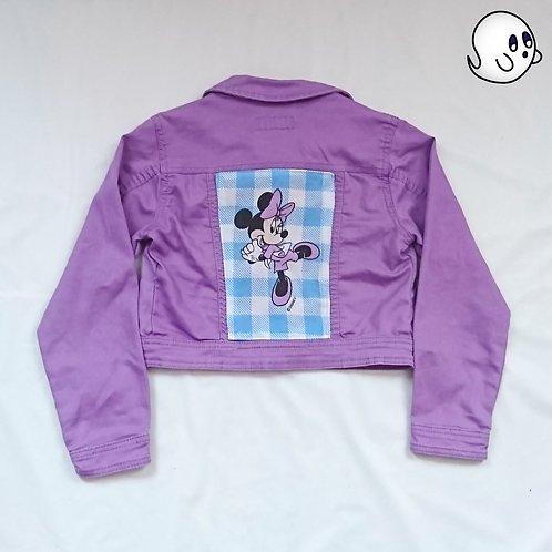 Minnie Mouse Reworked Denim Jacket - Child Medium (8)
