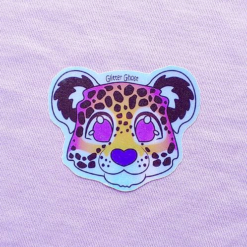 Jaguar 3 inch Holographic Sticker