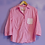 Thumbnail: Pink Polka Dot Mismatch Pocket Reworked Shirt - Women's Large