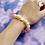 Thumbnail: Yellow Starfish Bead Stretch Bracelet