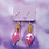 Thumbnail: Pink Hearts Love Potion Dangle Earring