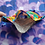 Thumbnail: Cats Rainbow Adult Face Mask with Pockets